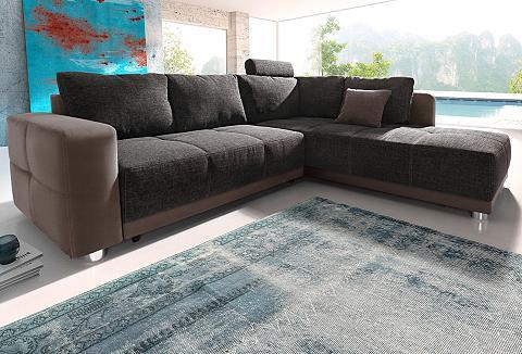 PLACES OF STYLE Kampinė sofa su miegojimo funkcija