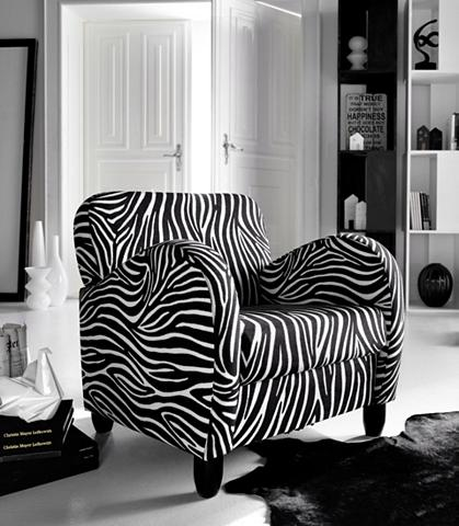 INOSIGN Fotelis im Zebra stilius