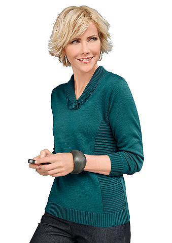 Megztinis su Zierknopf ant apykaklė