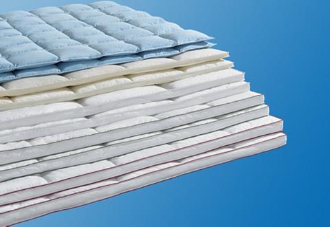 RIBECO Antklodė su plunksnų užpildu + pagalvė...