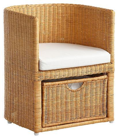 HOME AFFAIRE Pintas fotelis su stalčiai