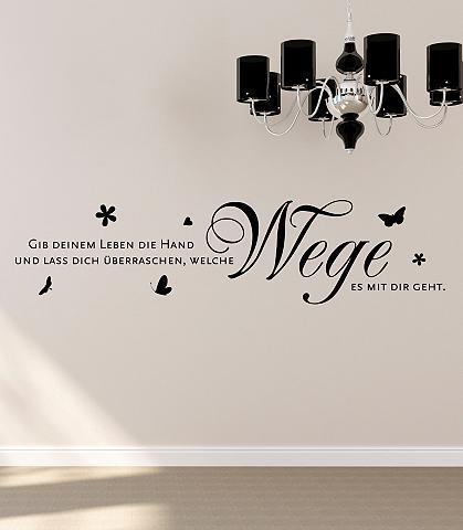 Sienos lipdukai »Gib deinem Leben die ...