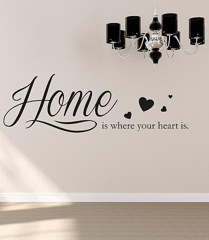 Sienos lipdukai »Home is where your he...