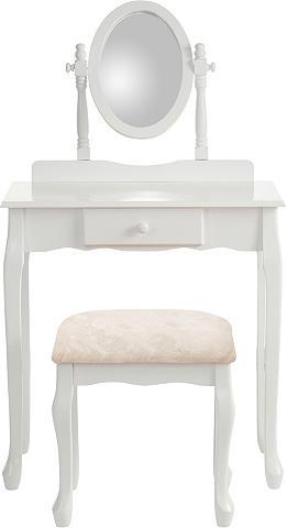 HOME AFFAIRE Kosmetinis staliukas su ovalem veidrod...