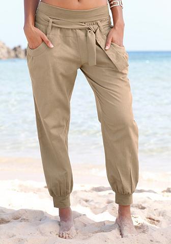 Paplūdimio kelnės iš linas