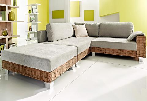 Kampinė sofa su Kojų kėdutė