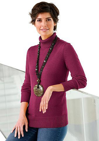 Megztinis su apykaklė aukštu kaklu