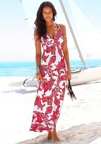 Ilga suknelė su reguliuojama iškirptė
