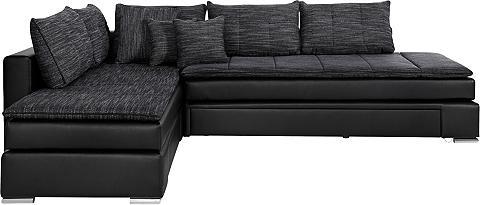 Kampinė sofa su Dauer-Schlaffunktion