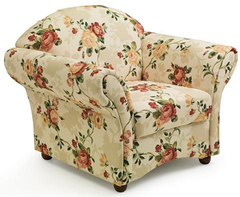 ® Gėlėtas fotelis »Carolina« su medinė...