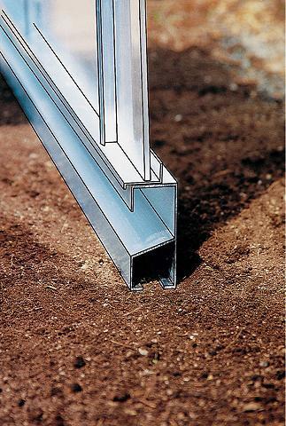 Rėmas Bx T: 256x504 cm aliuminio spalv...