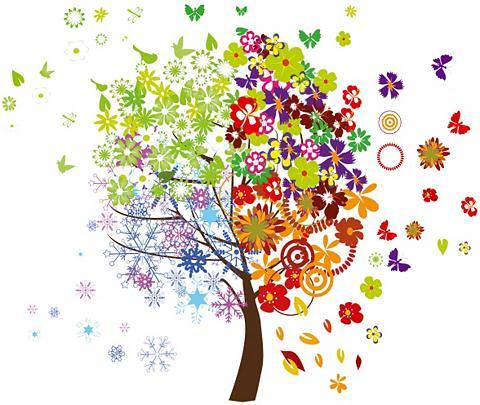 Sienos lipdukai »Four Seasons Tree« 50...