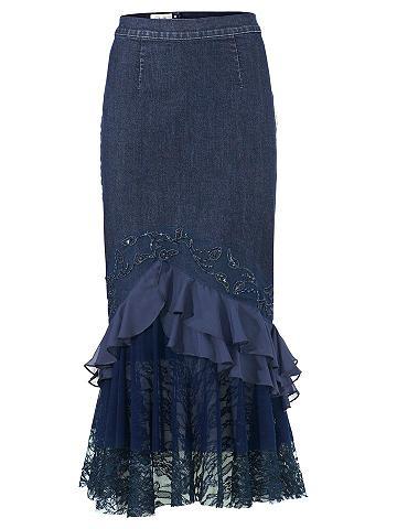Džinsinis sijonas su su paraukimais