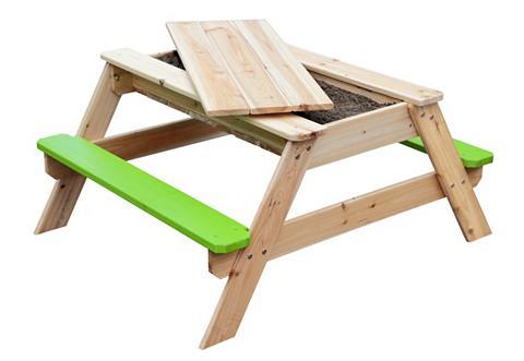 SUN Vaikiški baldai iš mediena su integruo...