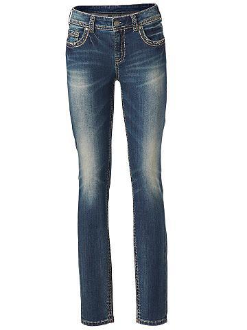 Siauri džinsai su Stitching ir blizguč...
