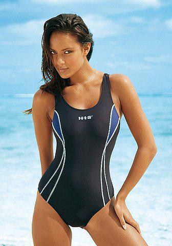 H.I.S . maudymosi kostiumėlis su Kontrastein...