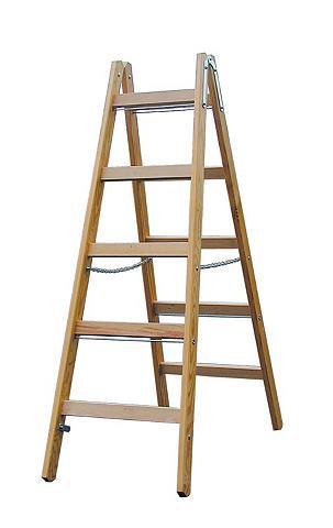 Kopėčios »Sprossen-Doppelleiter Holz«