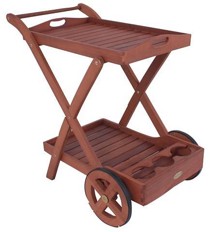 GARDEN PLEASURE Serviravimo vežimėlis »Toledo« Eukalyp...