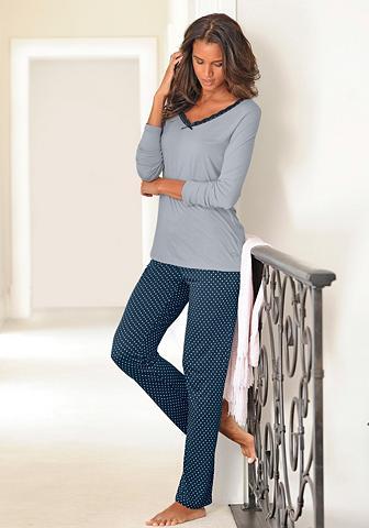 Subtilus pižama su taškuotas kelnės