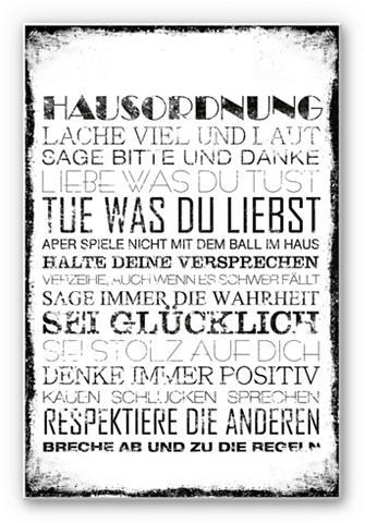 Hartschaum paveikslas « Hausordnung« 3...