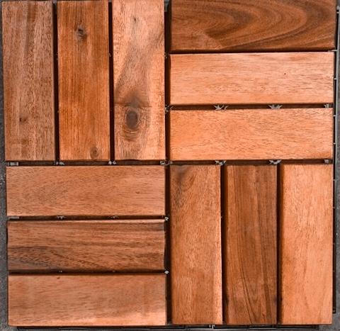 MERXX Holz-Fliesen »Eukalyptus« su Klick-Ver...