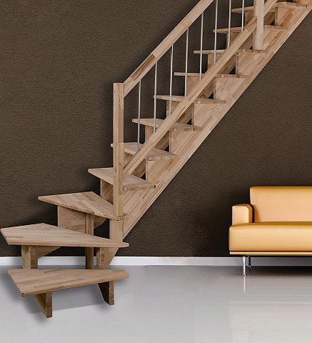 STARWOOD Medžio masyvo laiptai »Lindos« B: 80 c...