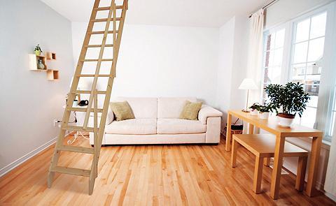 STARWOOD Kompaktiški laiptai »Olymp« B: 60 cm F...