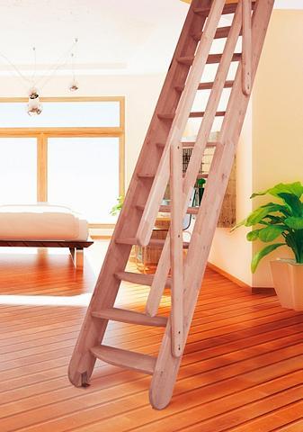 STARWOOD Kompaktiški laiptai »Samos« B: 60 cm B...