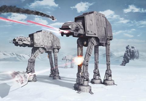 KOMAR Popieriniai tapetai »Star Wars Battle ...
