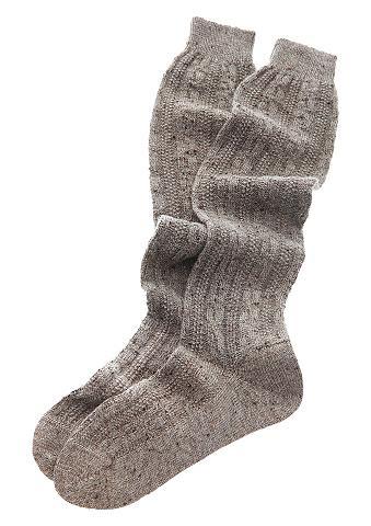 Ilgos kojinės su dygsniavimas