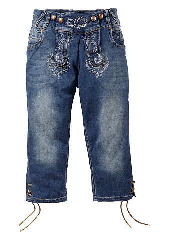 Tautinio stiliaus džinsai su Schn