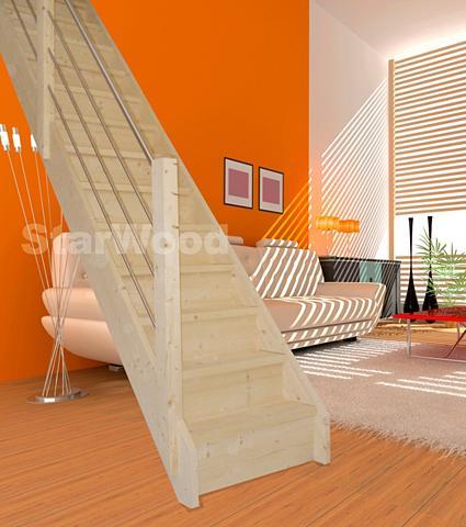 STARWOOD Kompaktiški laiptai »Korfu« geschl. ke...