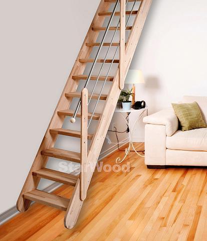 STARWOOD Kompaktiški laiptai »Samos« B: 70 cm B...