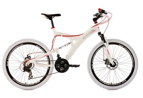 Kalnų dviratis 26 Zoll weiß-rot 21-Gan...