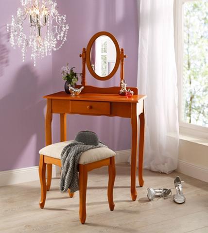 Kosmetinis staliukas su Kojų kėdutė