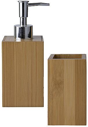 Vonios priedai »Bambus« (2-tlg. rinkin...