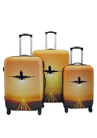 ? Plastikinių lagaminų komplektas su 4...
