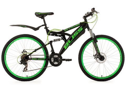 KS CYCLING Fully kalnų dviratis 26 Zoll schwarz-g...