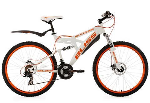 Fully kalnų dviratis 26 Zoll weiß-oran...