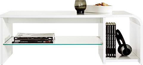 INOSIGN Kavos staliukas su stiklinės lentynėlė...