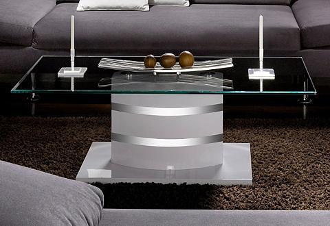 Kavos staliukas su skaidrus stiklas