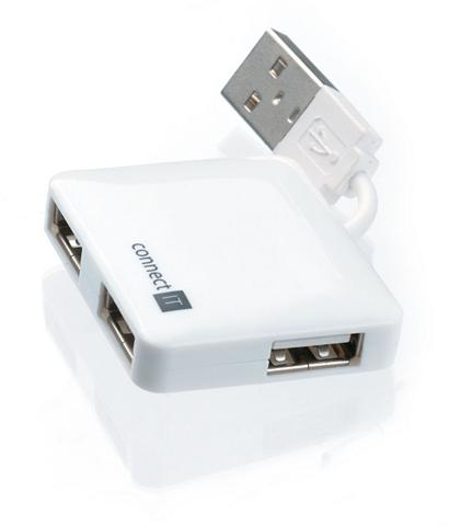 USB raktas »2.0 Mini 4 Ports Weiss«