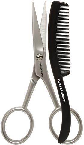 TWEEZERMAN Žirklės barzdai su Kamm