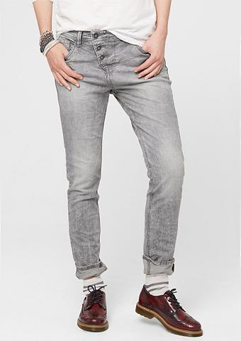 Boyfriend: Grau-melange džinsai
