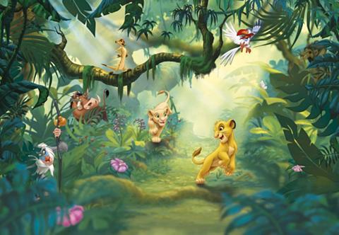 KOMAR Popieriniai tapetai » Lion King Jungle...