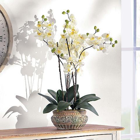 HOME AFFAIRE Dirbtinė gėlė »Orchidee« su gražus Vaz...