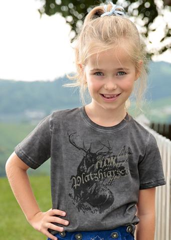Marškinėliai Kinder su puošnus Aufdruc...