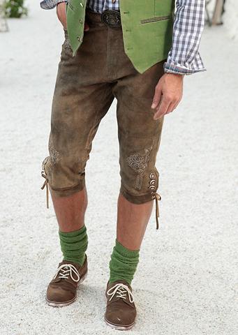 Tautinio stiliau odinės kelnės 3/4 Her...
