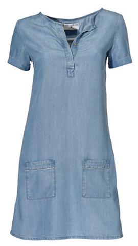 heine CASUAL Džinsinė suknelė su Marškinėliai apval...