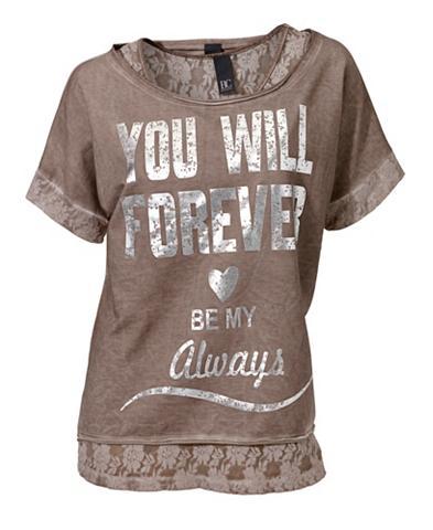 Du viename marškinėliai su Dekoracija